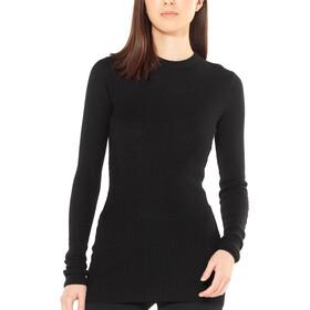 Icebreaker Valley Slim Sweat-shirt à col ras-du-cou Femme, black
